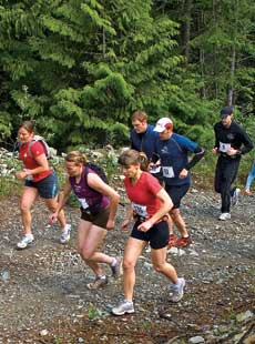The 2007 Comfortably Numb Trail Running Race. Photo by Dave MColm.