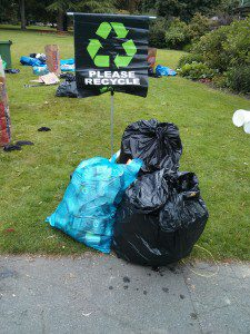 The Scotiabank Vancouver Half Marathon and 5K on Sunday, June 23 diverted more than 95% of its waste into recycling, leaving just four regular-sized garbage bags. Photo courtesy Canada Running Series.