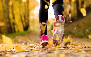 Runner during the fall.