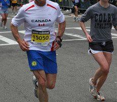 Stockwell Day at the 2009 Boston Marathon.
