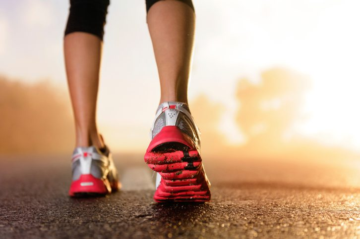 Runners can wear minimalist shoes around the house to strengthen feet