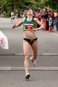 Krista DuChene wins. Photo: Inge Johnson