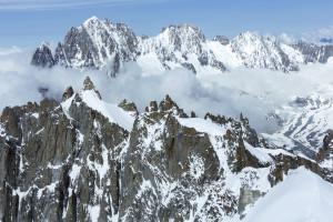 Mont Blanc mountain massif.