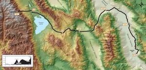 Badwater Ultramarathon route.