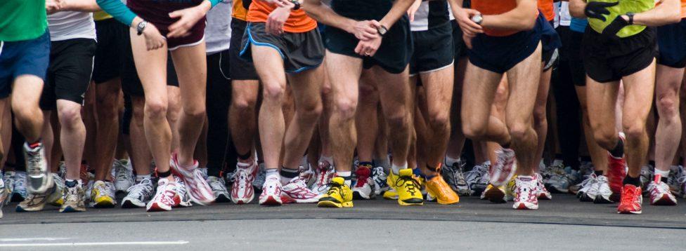 Start line of a race