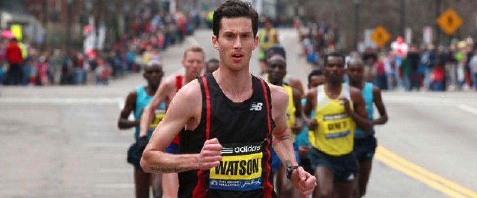 Canadian Rob Watson leading the Boston Marathon