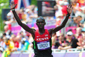 Wilson Kipsang at the London Olympic marathon