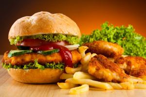 Fast food meal.