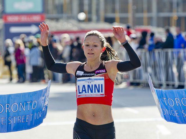 Canadian Running Magazine- Lanni Marchant winning 2013 Toronto Young St 10k