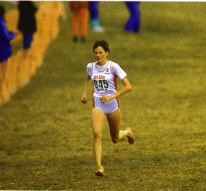 Zola Budd running cross-country race