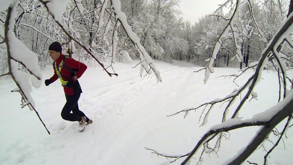 Joan Roch running in Parc Jean-Drapeau