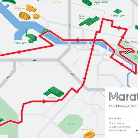 Commonwealth Games marathon route.