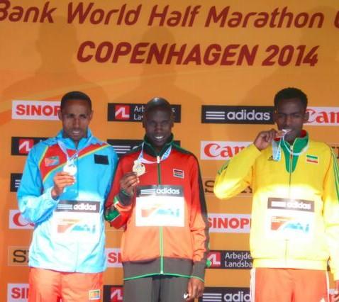 World half-marathon championship medallists.