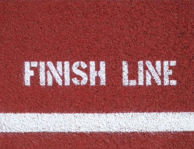 finish line track