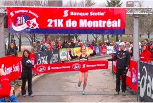 Hannah wins. Photo: Athletics Canada