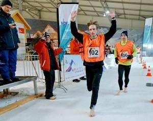 barefoot ice race