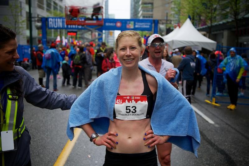 Kimberley Doerksen BMO Vancouver Marathon