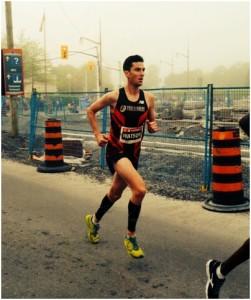 Rob Watson racing the Ottawa Marathon.