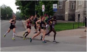 Rob Watson, Eric Gillis and Reid Coolsaet in the Ottawa Marathion
