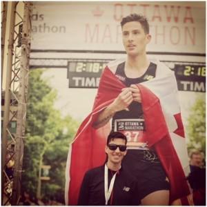 Rob Watson at the Ottawa Marathon
