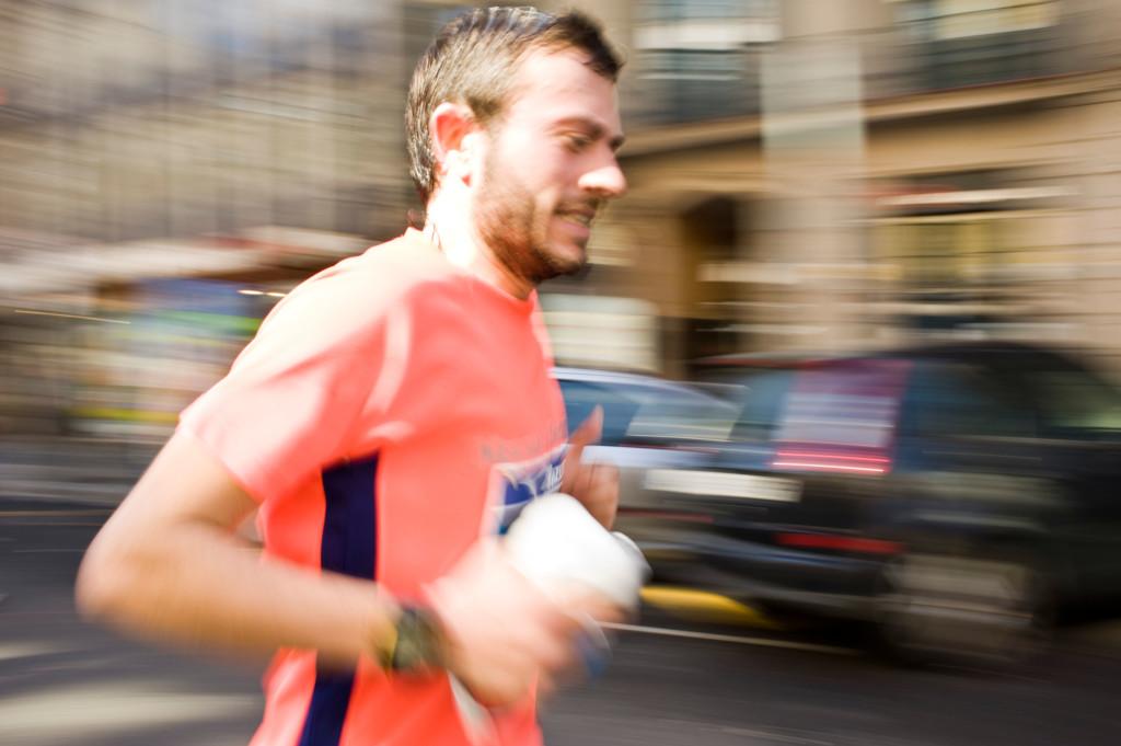 Marathon runner in Barcelona, Spain (2012)
