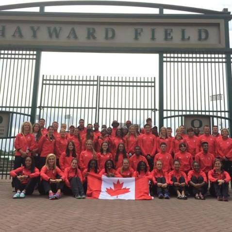 Canadian junior team, Hayward Field