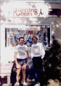 John Stanton and Jeff Galloway working at the original Edmonton location. (Photo: John Stanton)