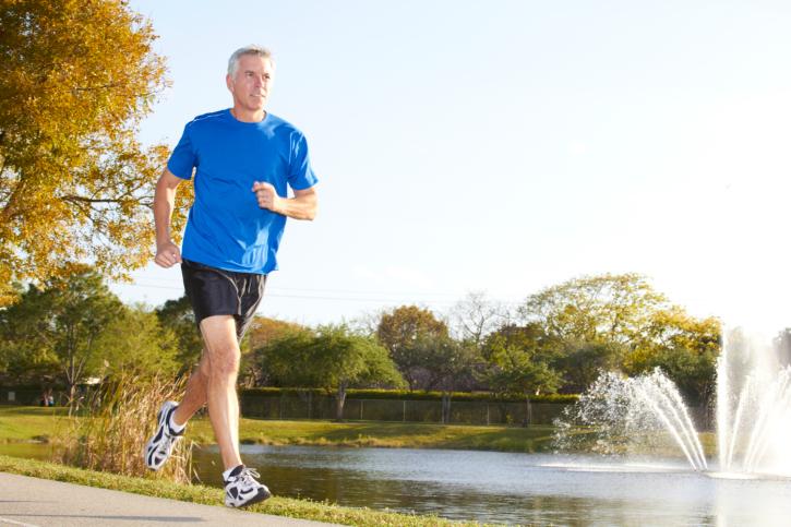 Mature Man Jogging