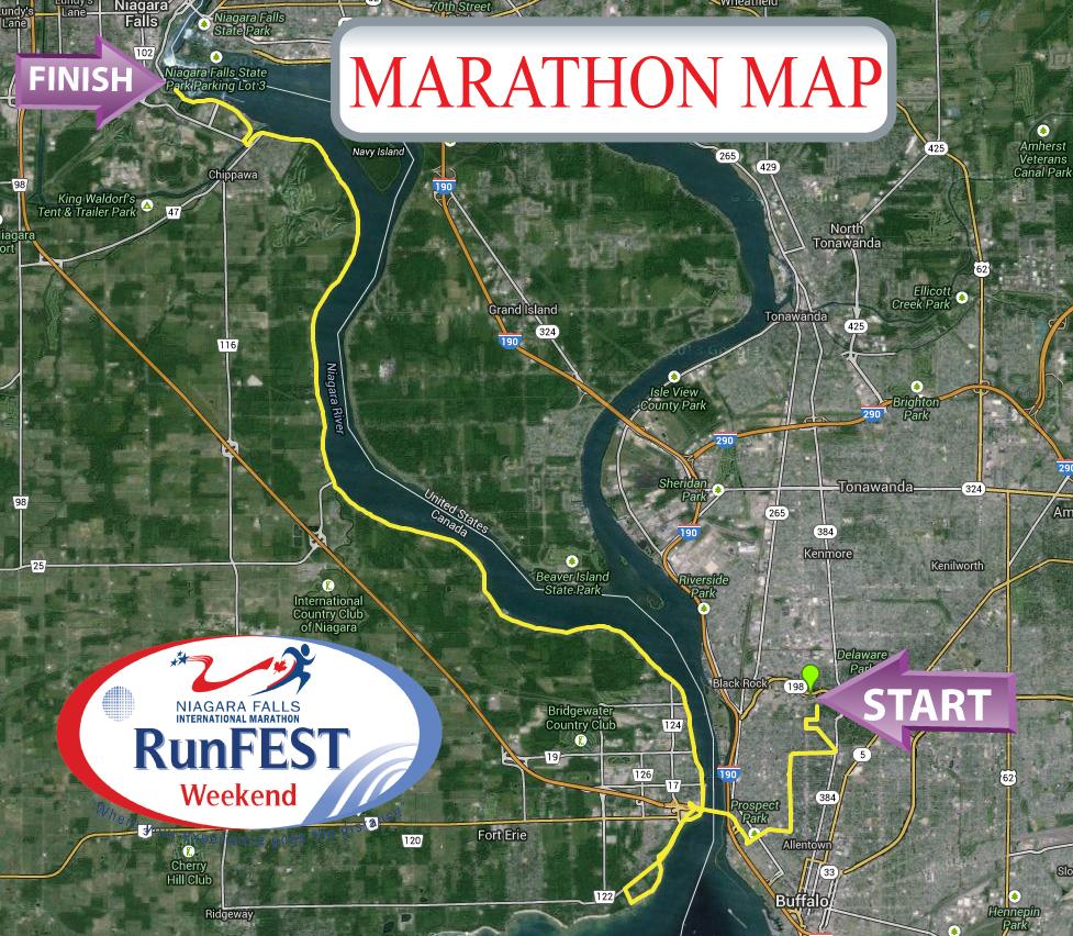 Niagara Falls Marathon Map