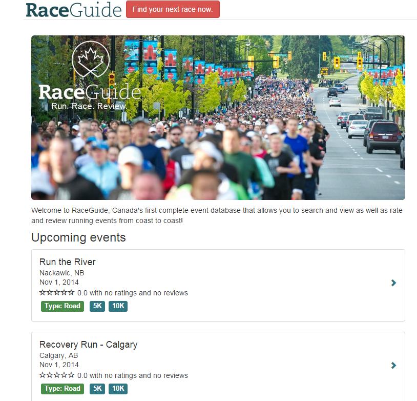 Race guide website Capture