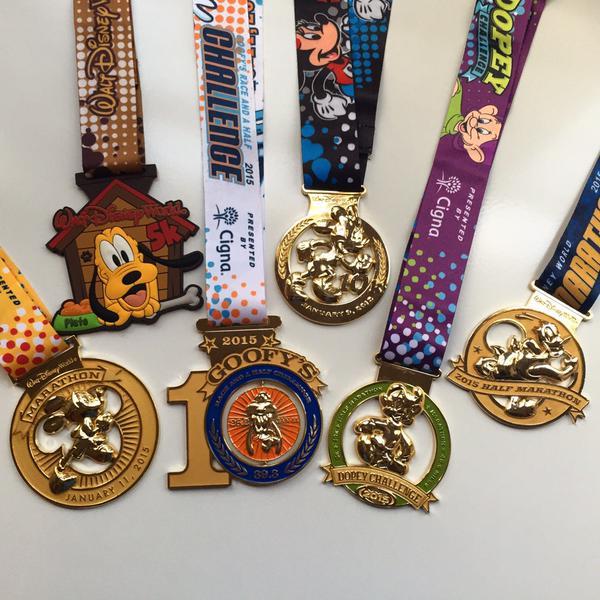 Disney Marathon medals