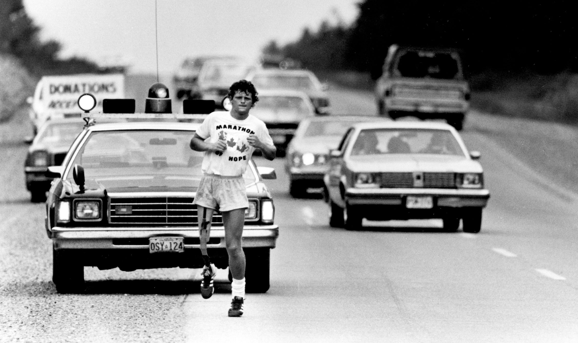 Terry Fox in the Marathon of Hope