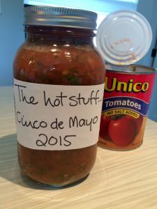 Spicy restaurant-style salsa