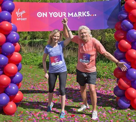 Richard Branson and Mary Wittenberg