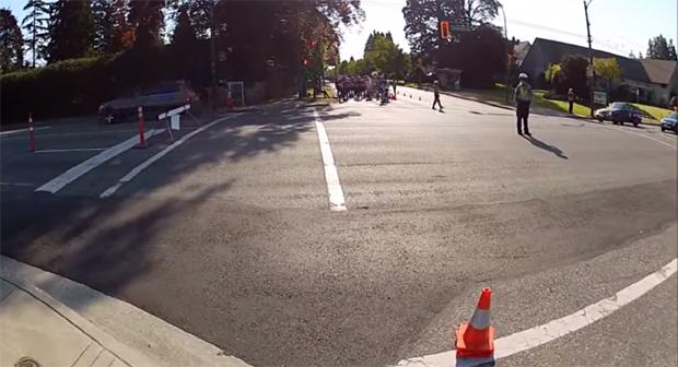 Vancouver Marathon traffic