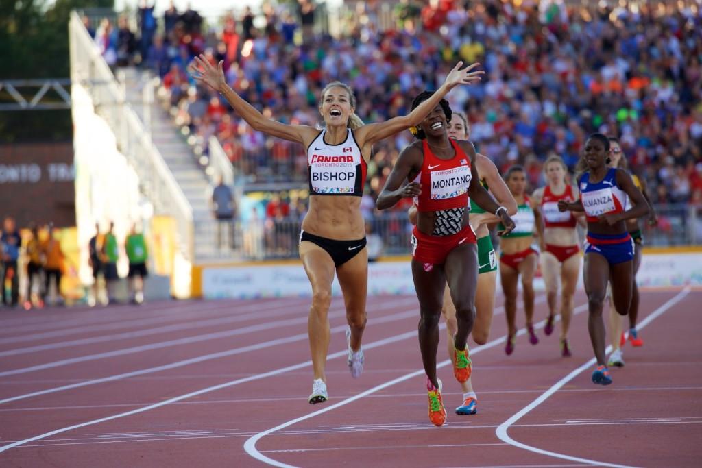 Melissa Bishop winning the women's 800m