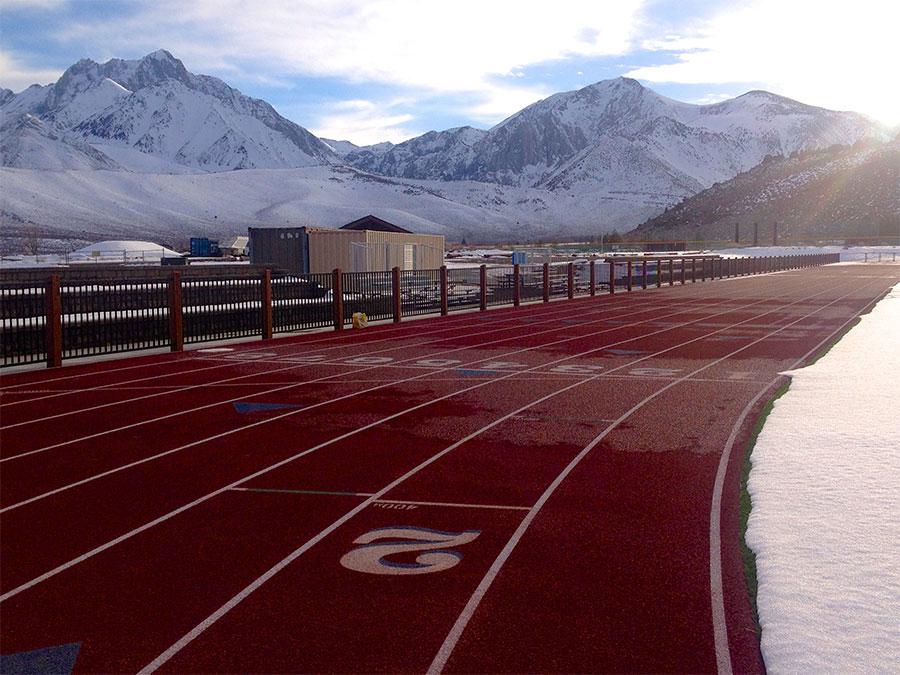 Winter running track
