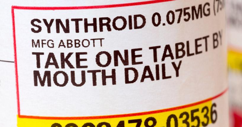 Synthroid Prescription Label