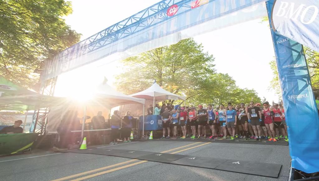 The start of the BMO Vancouver Marathon