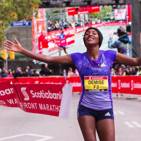 Scotiabank Toronto Waterfront Marathon winner Shure Demise