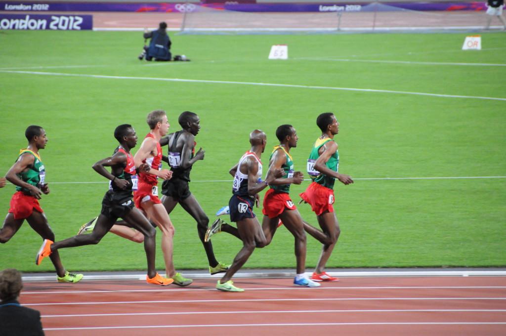 Olympic 10,000m at the 2012 London Olympics. Photo: Citizen59 via Wikmedia Commons.
