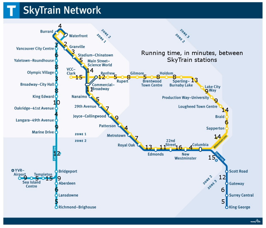 Vancouver's SkyTrain system mapped out in a runner-friendly ... on piccadilly line map, c-train map, evergreen line, dubai metro, union map, public transport, washington metro, airport map, sunderland map, transit map, north shore mountains map, translink map, sfu map, canada line, polson mt map, bay area rapid transit, chinatown map, chao phraya river map, shanghai metro, marc train map, bc ferries map, s-bahn map, massachusetts bay transportation authority map, light rail, victoria map, university of british columbia map, mexico city metro, west coast express, trimet map, rapid transit, beijing subway, expo line, people mover, car map, montreal metro,
