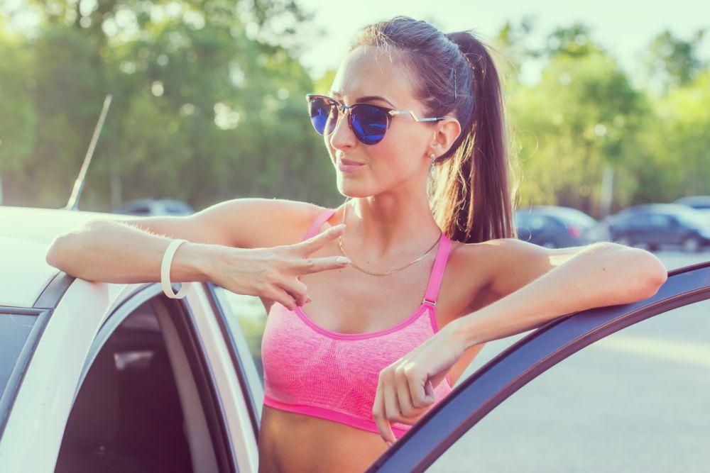Sports bra runner
