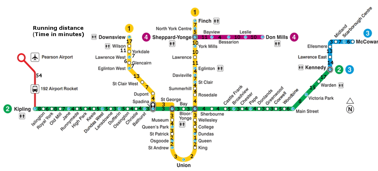 Toronto Subway Map Print.Vancouver S Skytrain System Mapped Out In A Runner Friendly Way