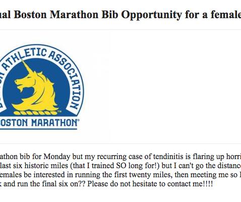 Boston Marathon Craigslist