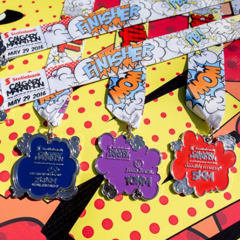 Calgary Marathon medals