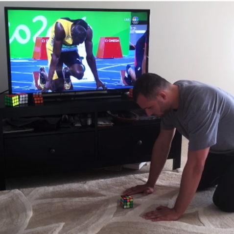 Usain Bolt Rubik's Cube