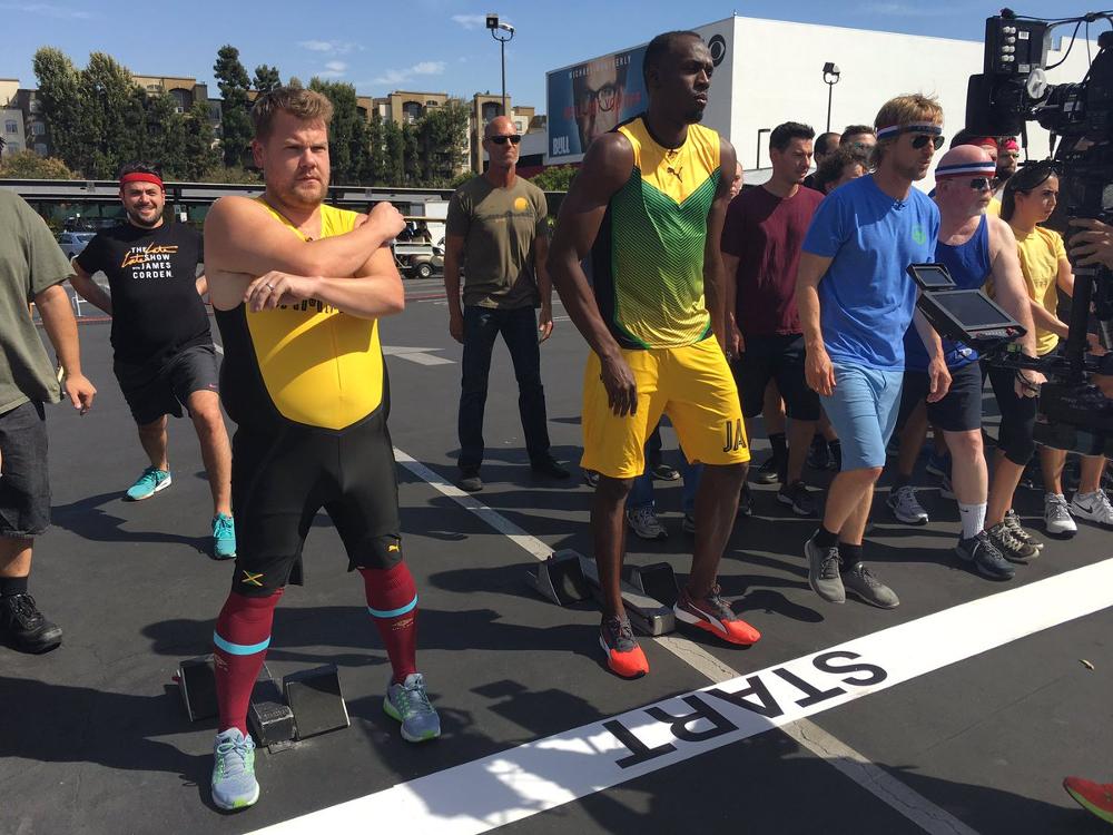 Usain Bolt James Corden