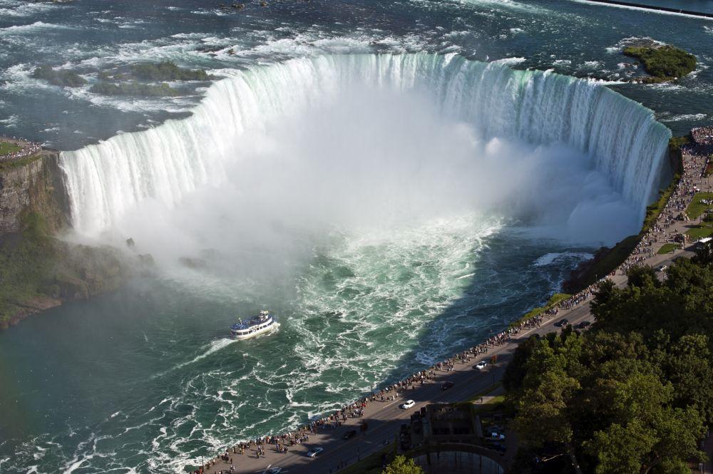 A sky view of Niagara Falls