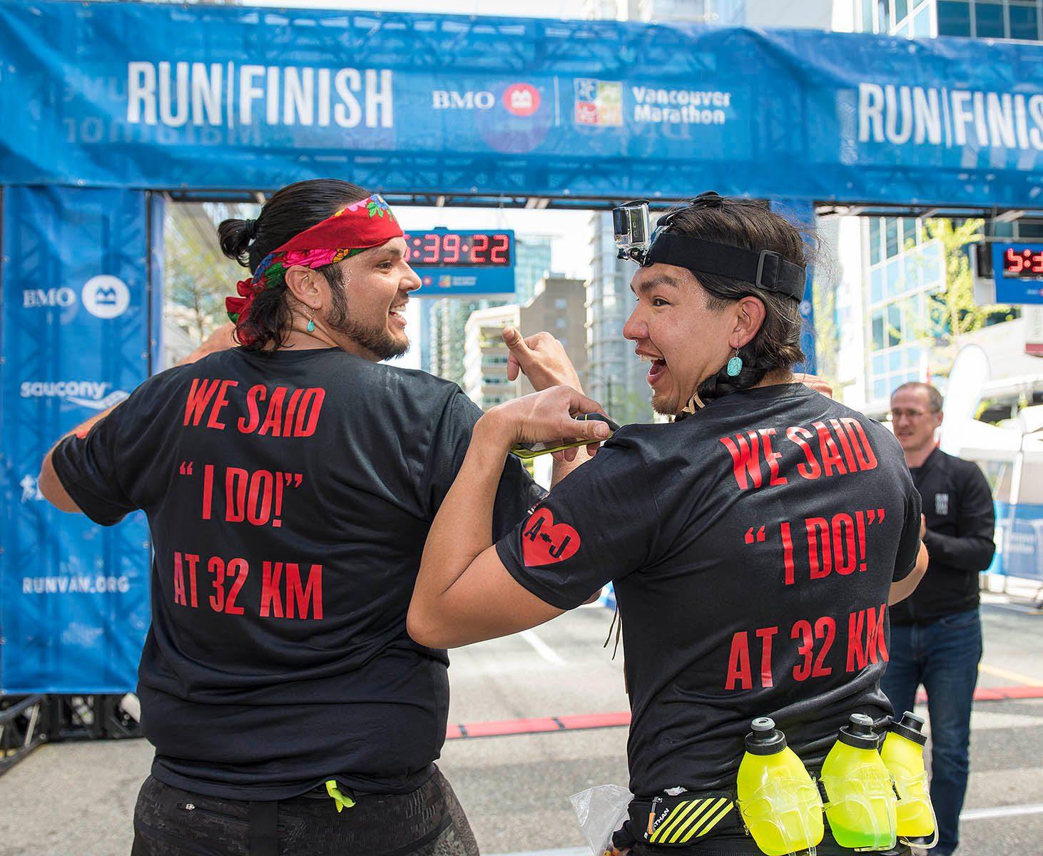 Vancouver Marathon marriage